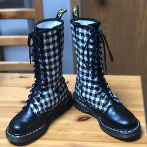 Dr Martens 1B99 Vtg Houndstooth Tweed Tall 14 boot
